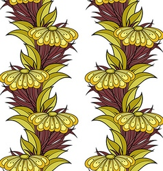 Seamless floral pattern hand drawn floral texture vector