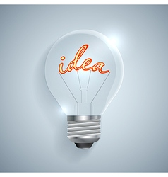 Lightbulb with Idea sign on a light background vector image