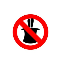 Stop tricks ban to do magic tricks frozen cylinder vector