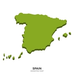 Isometric map of spain detailed vector
