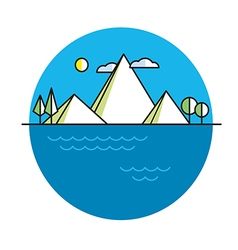 Line island in color vector