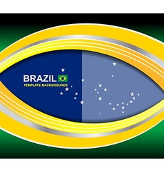 Brazil curve template backgrounds vector