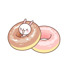 A pair of doughnuts vector image vector image