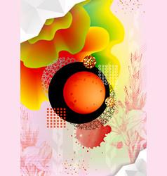 abstract geometric polygonal design vector image