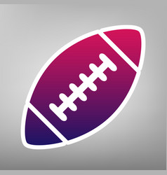 American simple football ball purple vector
