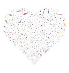 Ampoule fireworks heart vector