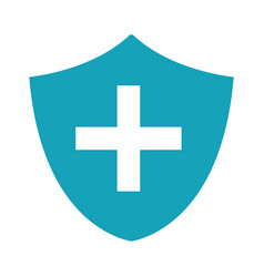 blue seal cross emergency security vector image vector image