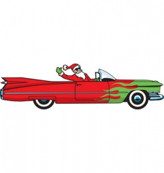 Christmas caddy vector image