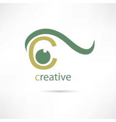 Creative eye icon vector image vector image