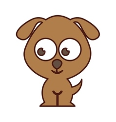 cute dog tender isolated icon vector image