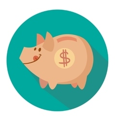 cute pig vector image vector image