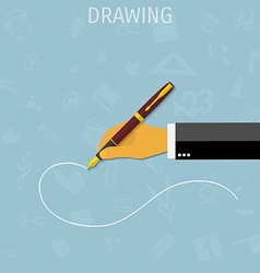 drawing pen vector image