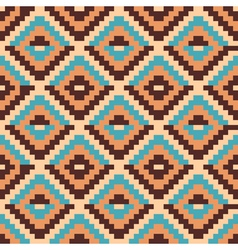 Ethnic geometric ornament pattern background vector