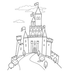 Fairy tale castle vector image vector image
