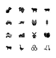 farming - flat icons vector image vector image