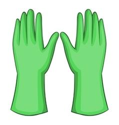 Garden gloves icon cartoon style vector