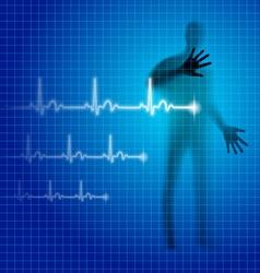 Heartbeat vector image