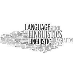 Linguistics word cloud concept vector