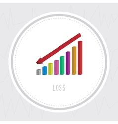 Loss chart2 vector image