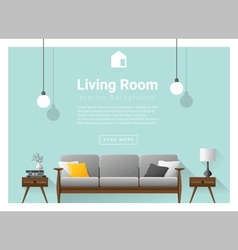 Modern living room Interior background 1 vector image vector image