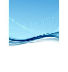 Modern transparent blue wave folder background vector image
