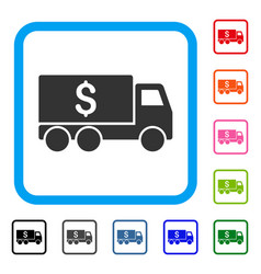 Money delivery framed icon vector