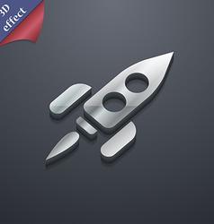 Rocket icon symbol 3D style Trendy modern design vector image