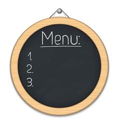 Round Blackboard vector image vector image