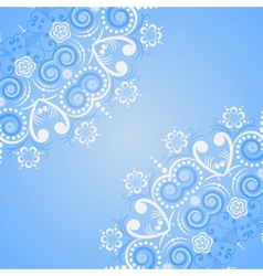 round floral pattern vector image