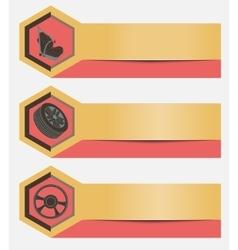 Set of horizontal banners maintenance and repair vector