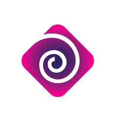 square rose swirl logo vector image