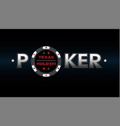texas holdem poker vector image