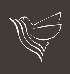 the dove the holy spirit vector image vector image