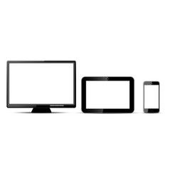 Three digital devices vector