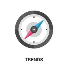 trends icon concept vector image