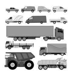 Trucks van vector image