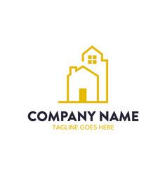 Unique building logo template vector