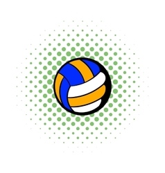 Volleyball ball icon comics style vector