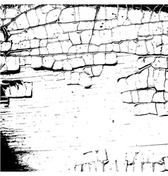 Grunge craquelure cracked texture white and black vector