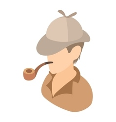 Englishman with a pipe icon cartoon style vector image