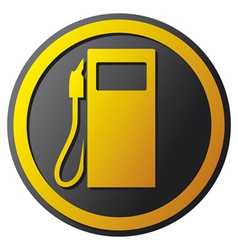 Petrol station icon vector