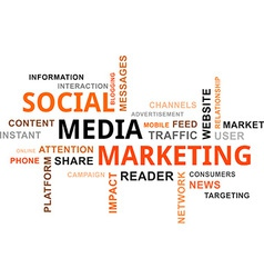 Word cloud social media marketing vector