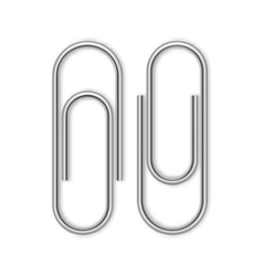 Paper clip isolated on white vector
