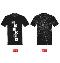 T-shirts with spider web on it part two vector image