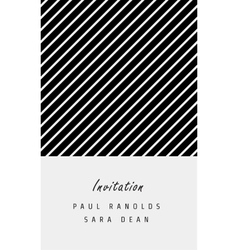 Minimal invitation card or ticket vector