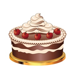 Decorated chocolate cake4 vector