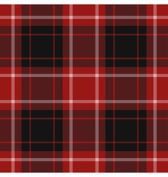 Seamless red tartan vector