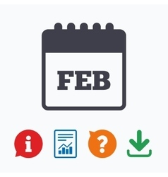 Calendar sign icon february month symbol vector