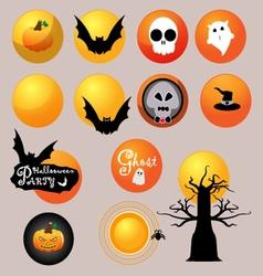 The moon of Halloween vector image