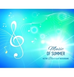 Blue background with music notes and key vector